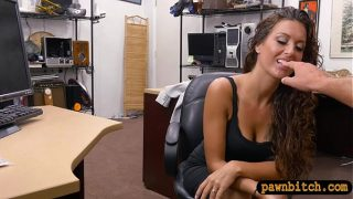 Curvy brunette woman gets railed by nasty pawn …